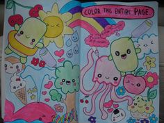 wreck this journal - color this entire page