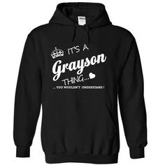 Its A GRAYSON Thing - #tshirt redo #tshirt necklace. BUY NOW => https://www.sunfrog.com/Names/Its-A-GRAYSON-Thing-njpck-Black-15633225-Hoodie.html?68278