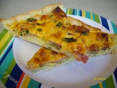 I used to make this when I worked for a gas station/pizza place so I could sell it by the slice to the early morning rush. I would end up selling more for breakfast than lunch at times!