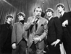 Portraits Print - Beatles And Ed Sullivan Print by Granger