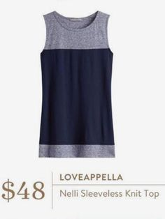**** LOVE this Grey and navy color block tank just in for Stitch Fix! Perfect with skinnies or wear with shorts. Stitch fix fashion trends. Stitch Fix Fall, Stitch Fix Spring Stitch Fix Summer 2016 2017. Stitch Fix Fall Spring fashion. #StitchFix #Affiliate #StitchFixInfluencer