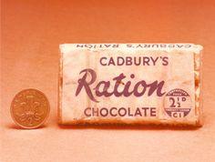 World War II CADBURY'S Ration CHOCOLATE