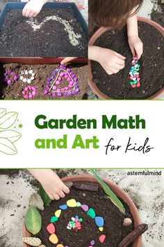 Gardening with kids is already awesome for their development. Add this beautiful math and art activity and nurture learning even more.