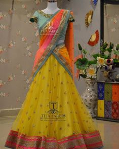 Your Official Guide to Find Best Half Saree Blouse Designs Lehenga Designs, Half Saree Designs, Bridal Blouse Designs, Saree Blouse Designs, Sari Blouse, Lehnga Dress, Lehenga Gown, Designer Bridal Lehenga, Designer Lehanga