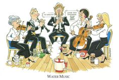 Joan Butler Classics Greeting Card - Water Music Butler, Musicals, Greeting Cards, Hilarious, Comics, Classic, Gifts, Derby, Favors