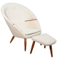 Nanna Ditzel - Easy Chair and Ottoman