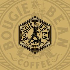Logo design I've created for 'Bougie Bean Coffee'.  Do you want to give your business a new look? Write me a message to: wintrygrey@hotmail.com Porsche Logo, My Works, Logo Design, Messages, Photo And Video, Coffee, Logos, Business, Instagram