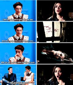 "Um, and Ian was just there for me every second of the way. Often times he was just performing this amazing thing and it was so easy for me to connect to my aunt dying. And it was such an emotional moment for me and I feel like for was such a great moment for me."" - Crystal Reed about one of her favorite moments from Teen Wolf"