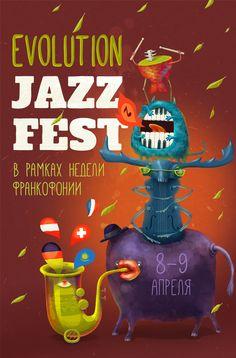 Evolution Jazz Fest on Behance