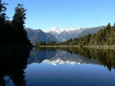 Mount Cook reflected in Lake Matheson