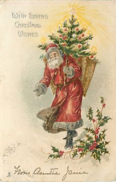 Vintage Christmas Images, Antique Christmas, Retro Christmas, Christmas Wishes, Christmas Pictures, Christmas Art, Christmas Projects, Beautiful Christmas, Father Christmas
