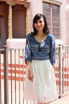 Leopard Martini: White Lace Skirt