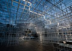 Serpentine Pavilion Intervention by United Visual Artists @Emir Drahsan korkmasınlar diye bakeit'e koymadım ama nice grid idea