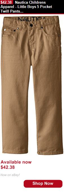 Boys uniforms: Nautica Childrens Apparel - Little Boys 5 Pocket Twill Pants, Khaki, 04 BUY IT NOW ONLY: $42.38