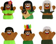 Fantoche Família Indígena