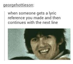 That happened during my senior photo shoot. I had my Beatles guitar and a young photographer walked by, and said 'I'm fixing a hole' and I finished it and I think he started fanboying lmao Beatles Funny, The Beatles, Beatles Guitar, Beatles Songs, John Lenon, George Harrison, I Can Relate, My Chemical Romance, Tumblr Funny