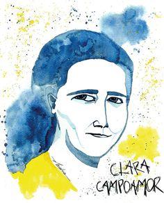Clara Campoamor. Acuarela
