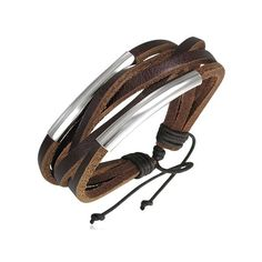 surf-brown-leather-multi-strand-bracelet