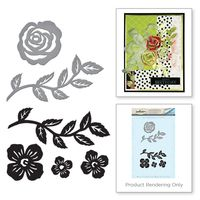 Spellbinders - Floral Set Stamp and Die Set from the Joyous Celebrations Collection by Sharyn Sowell