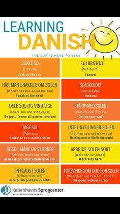 Speak Danish, Danish Words, Danish Language Learning, Sprog, Languages, Education, Studying, Water, Idioms