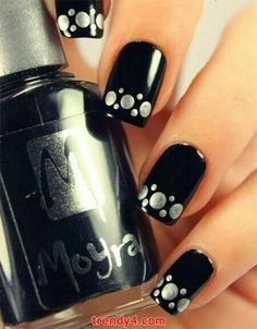 Black w/silver dots