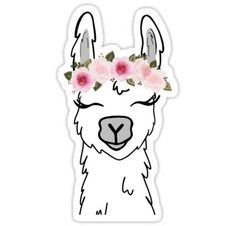 """Floral Crown Llama"" Stickers by ktscanvases Tumblr Stickers, Phone Stickers, Cool Stickers, Printable Stickers, Planner Stickers, Cute Laptop Stickers, Snapchat Stickers, Red Bubble Stickers, Aesthetic Stickers"