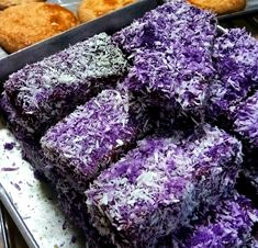 Ube Bars - Another recipe you shouldn't missed out. Great home business you can make at home and let your kids try this simple Filipino snack bars. Ube Dessert Recipe, Dessert Recipes, Ube Bread Recipe, Ube Roll Cake Recipe, Filo Recipe, Dessert Ideas, Pinoy Dessert, Filipino Desserts, Amigurumi