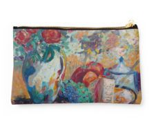 Studio Pouch  featuring Still Life with Roses fine art painting by Avonelle Kelsey