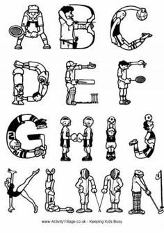 Sports Alphabet, Font with Sports Letters Clipart Clip Art