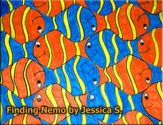 Escher style tesselation of clownfish