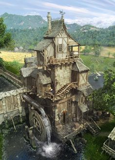 ArtStation - Water Mill, Alex Serebryakov