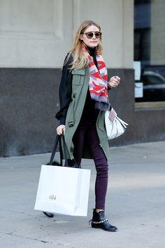 Is Olivia Palermo Bringing Back This Skinny Jeans Trend? via @WhoWhatWear