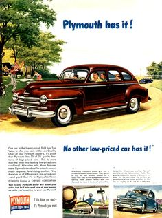 1947 Plymouth Car | Old Car Ads Home | Old Car Brochures | Old Car Manual