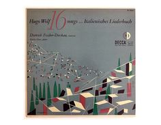 Erik Nitsche record album design 1952. Hugo Wolf by NewDocuments, $52.00