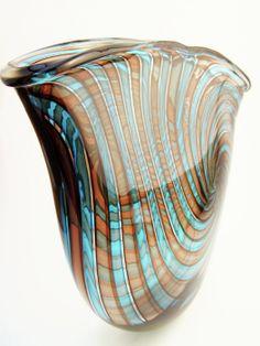bob crooks glass art | Bob Crooks Pi Vase - Guinness Gallery Select