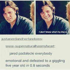Jared Padalecki is adorable.