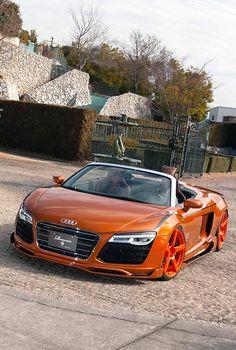 Visit The MACHINE Shop Café... ❤ Best of Audi @ MACHINE... ❤ (Audi R8 V8 GT Spyder Supercar)