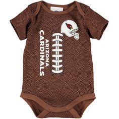 Newborn & Infant Arizona Cardinals Brown Football Bodysuit