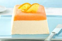 Discover a beautiful orange cream dessert that takes just 15 minutes to prepare. Your guests will love this Frosty Layered Orange Cream Dessert that features orange sherbet, cream cheese, sweetened condensed milk, orange juice and COOL WHIP. Kraft Foods, Kraft Recipes, Frozen Desserts, Frozen Treats, Just Desserts, Delicious Desserts, Dessert Recipes, Jello Desserts, Jello Recipes