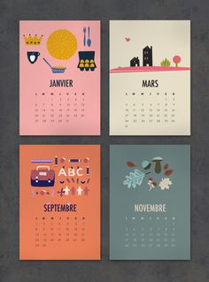 FREE printable 2014 calendar (in french) / calendrier à imprimer
