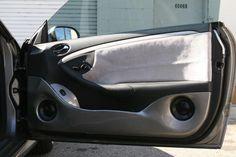 Door panels we built for a set of Morel component speakers in this Mercedes CLK show car.