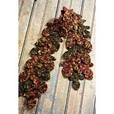 #10 Felted Leaf Scarf pattern by Nicky Epstein. malabrigo Worsted in Noviembre