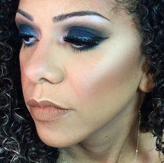 Maquiagem feita no carnaval para diretora de chocalho Fernanda Santos