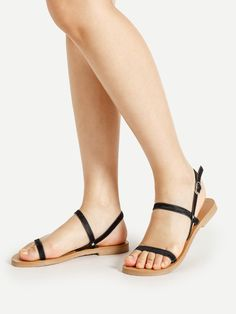 Shop Simple Strappy Flat Sandals online. SheIn offers Simple Strappy Flat Sandals & more to fit your fashionable needs.