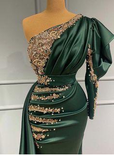 One Shoulder, Shoulder Dress, Gala Dresses, Designer Dresses, Dresses With Sleeves, Glamour, My Style, Long Sleeve, Dress Designs