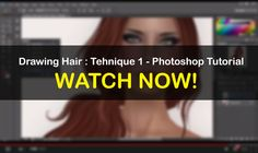 Drawing Hair : Tehnique 1 - Photoshop Tutorial | RAYNE MORGAN - Photography - Fashion - Tutorials in Second Life