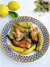 Κουνέλι λεμονάτο με θυμάρι ή ρίγανη-rabbit-cooked-in-lemon-juice-with-thyme-or-oregano Juice, Greek, Lemon, Pork, Diet, Traditional, Chicken, Cooking, Recipes