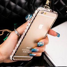 Bling Diamond Bumper Iphone Case Fashion Glitter Crystal Rhinestone Sn – Limited Offerz