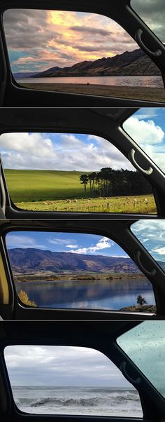((New Zealand through a window)) We're going to do this except on our Great Ocean Road trip :)))