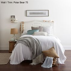 BEHR Premium Plus Ultra 1 gal. #75 Polar Bear Matte Interior Paint - 175001 - The Home Depot